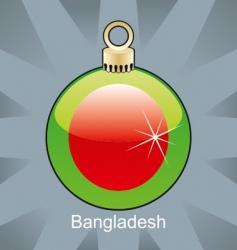 Bangladesh flag on bulb vector image