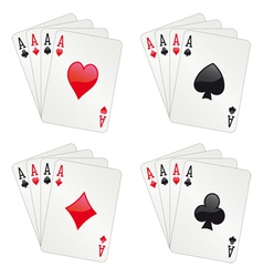 Four aces poker vector image vector image