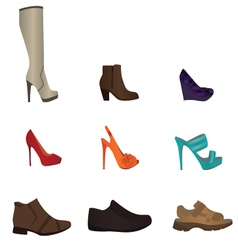 Set of male and female shoes vector image vector image