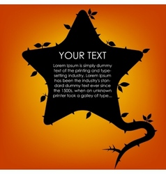 Silhouette Cloud Speech with Tree Leaf Star vector image