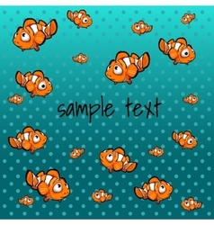 Striped orange fish with space for text vector image vector image