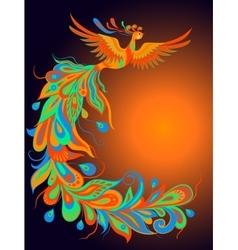 A mythical fire bird vector image