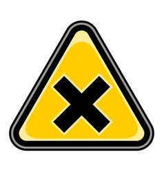 mark irritant sign triangular sticker vector image