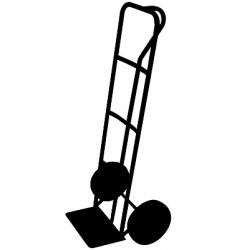 sack trolley vector image vector image