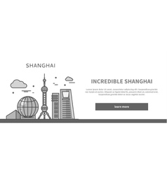 Web Page Chinese City of Incredible Shanghai vector image vector image