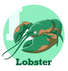 abc cartoon lobster vector image
