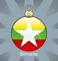 birmania flag on bulb vector image vector image