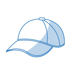 blue shading silhouette cartoon sport cap headwear vector image vector image