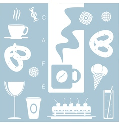 Cafe decoration vector image vector image