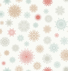 Christmas seamless pattern from red and blue vector image