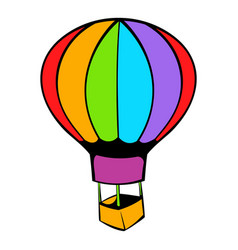 hot air balloon icon icon cartoon vector image