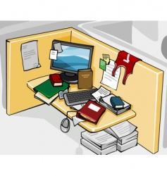 office desk vector image vector image