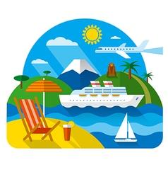 sea and ocean resort vector image vector image