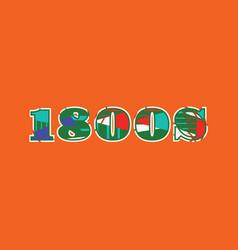 1800s concept word art vector