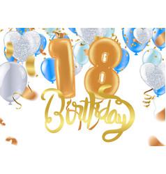 18th birthday celebration greeting card design vector