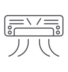 air conditioner thin line icon appliance and vector image