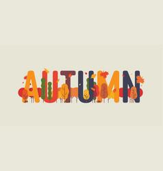 Autumn themed text art vector