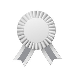 award ribbon isolated on white background vector image