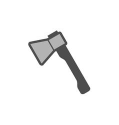 axe colorful icon garden tool equipment vector image