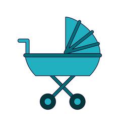 baby pram cart vector image