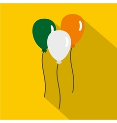 Balloons in irish flag colors icon flat style vector