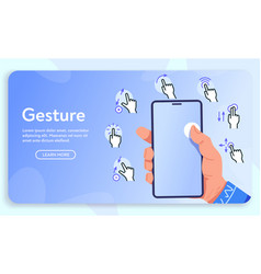 banner gesture for vector image