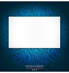blue delicate luxurious background vector image