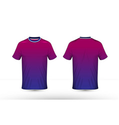 Blue purple and white layout e-sport t-shirt vector