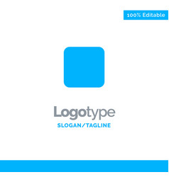 Box checkbox unchecked blue solid logo template vector