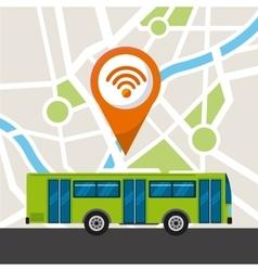 Bus service public icon vector