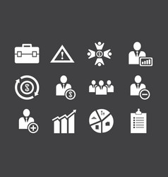 business icon set bundle used best vector image