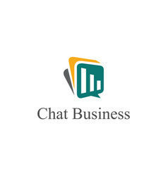 chat business logo vector image