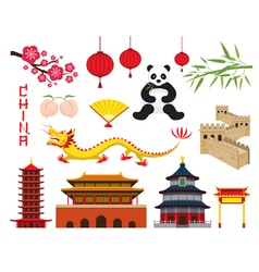 China Objects Set vector