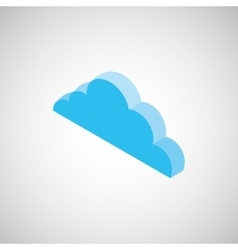 cloud isometrics design vector image