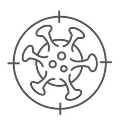 Coronavirus kill thin line icon virus and vector