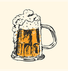 Craft beer and pub sketch vector