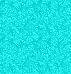 Cyan seamless triangle pattern background vector