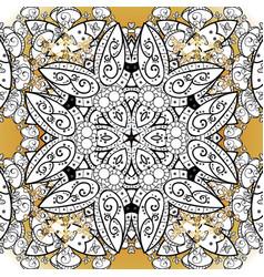 decorative colored round ornament yoga logo vector image