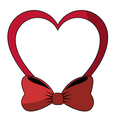 decorative heart with bow vector image