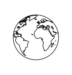 earth planet world image line vector image vector image