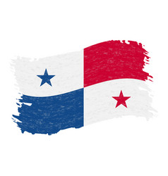 flag of panama grunge abstract brush stroke vector image