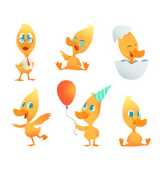funny duck cartoon vector image