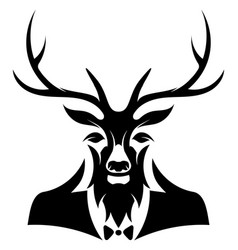 gentleman deer head vector image