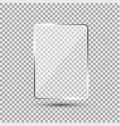 glass plate on transparent background vector image