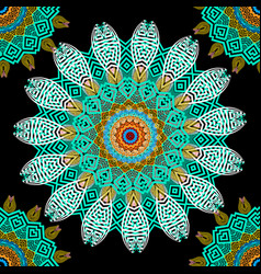 greek colorful floral seamless mandalas pattern vector image