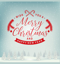 joy to world merry christmas and happy new vector image