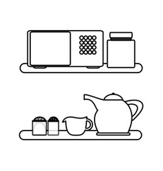 kitchen drawers icon vector image