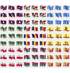 Laos Seychelles Somalia Chechen Republic of vector