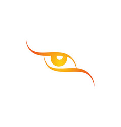 logo eye all-seeing logo eye stylized logo vector image