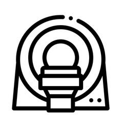 Mri diagnosis apparatus icon outline vector